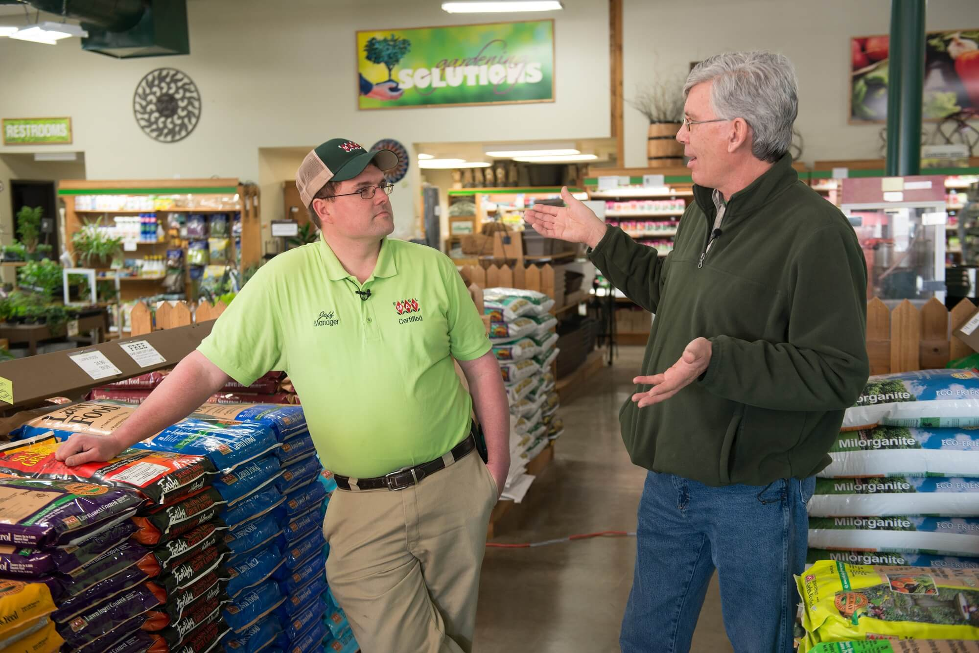 Jeff Lanphier of Earl May Nursery & Garden Center  discusses gardening with Mark Jackson.