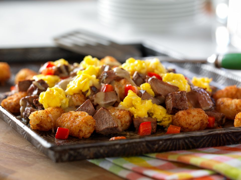 Southwestern Beef Breakfast Nacho recipe and photo courtesy of the Cattlemen's Beef Board.
