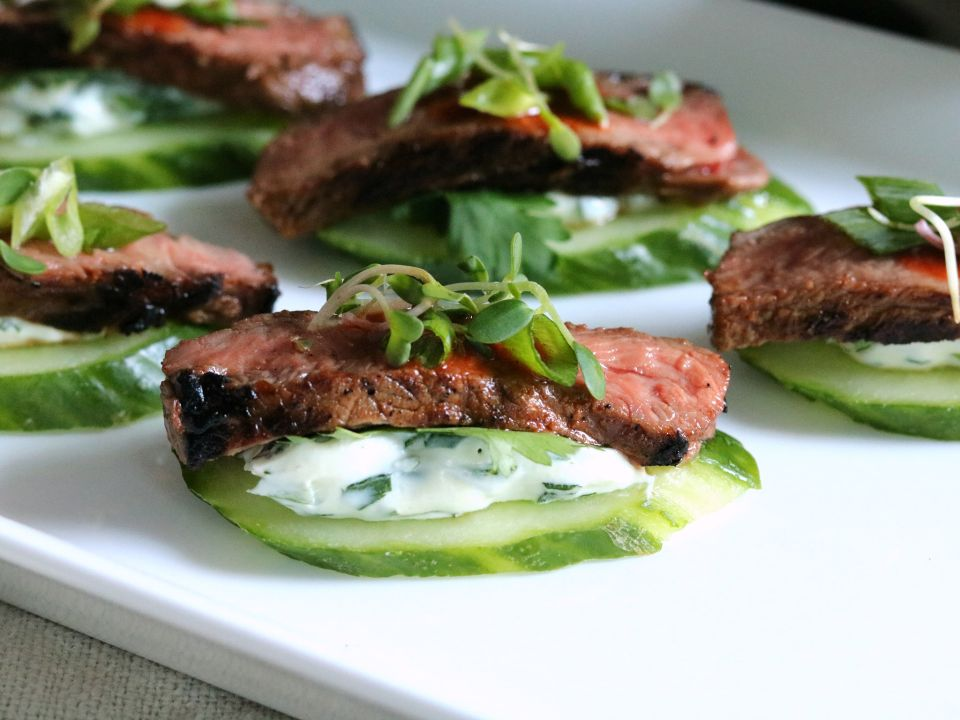 Spicy Korean Beef & Cucumber recipe and photo courtesy of the Cattlemen's Beef Board.