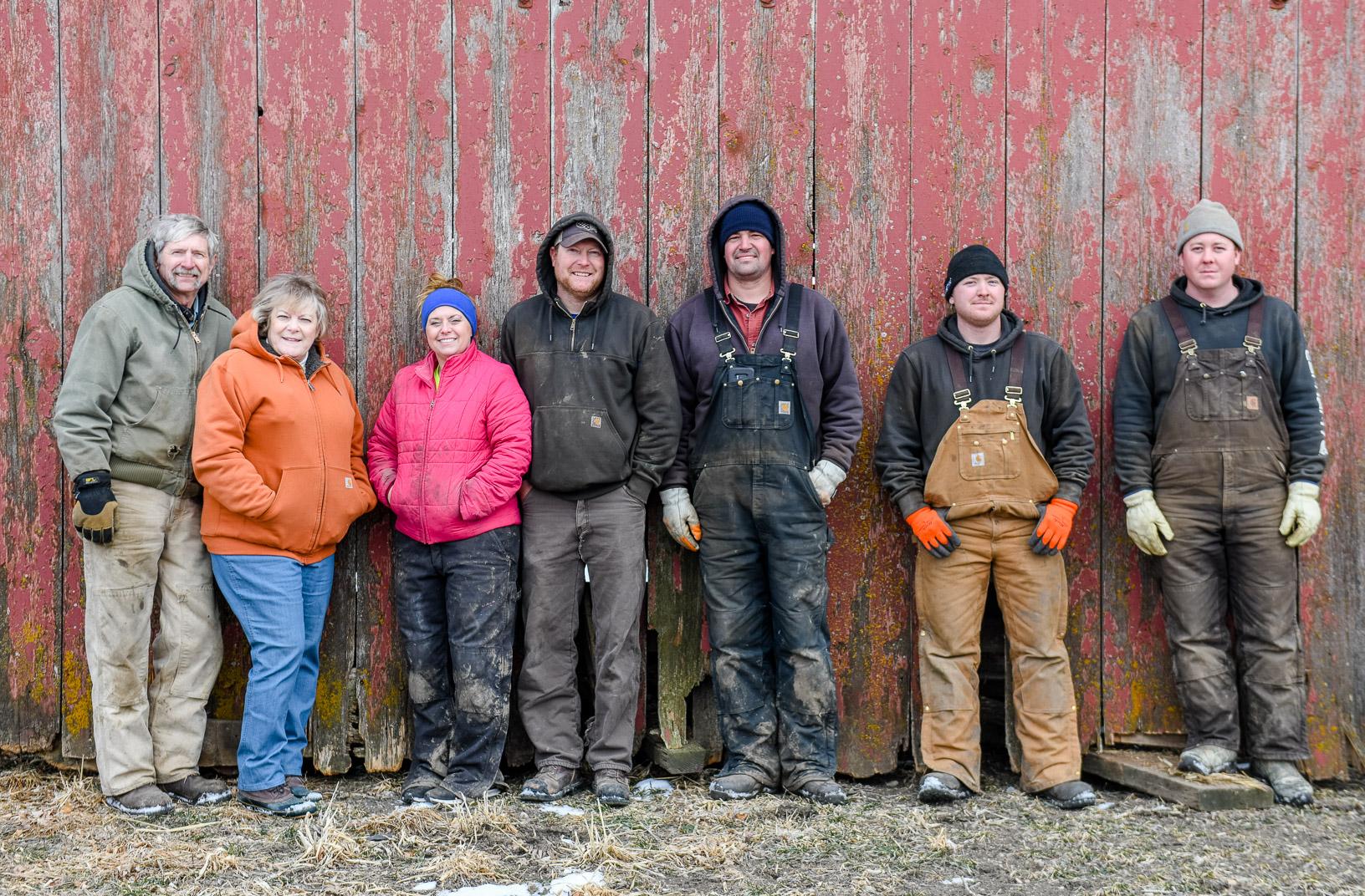 The moving crew from left: Curt Hansen, Debbie Hansen, Robin Hansen, Brock Hansen, Jake Pyle, Brandon Schmidt and Randy Schmidt.
