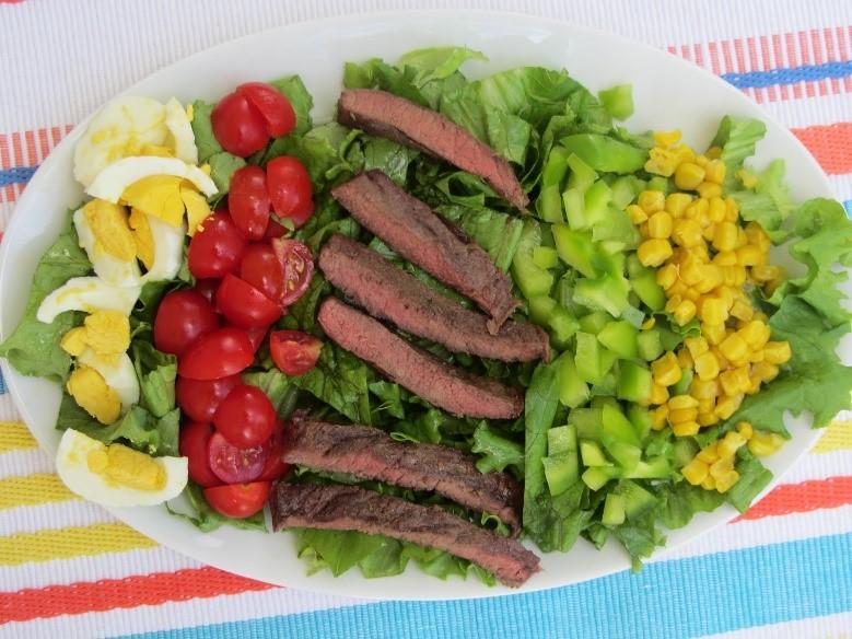 Stephanie Gates prepared a grilled steak cobb salad to fuel her body during Live Healthy Iowa's 10 Week Wellness Challenge.