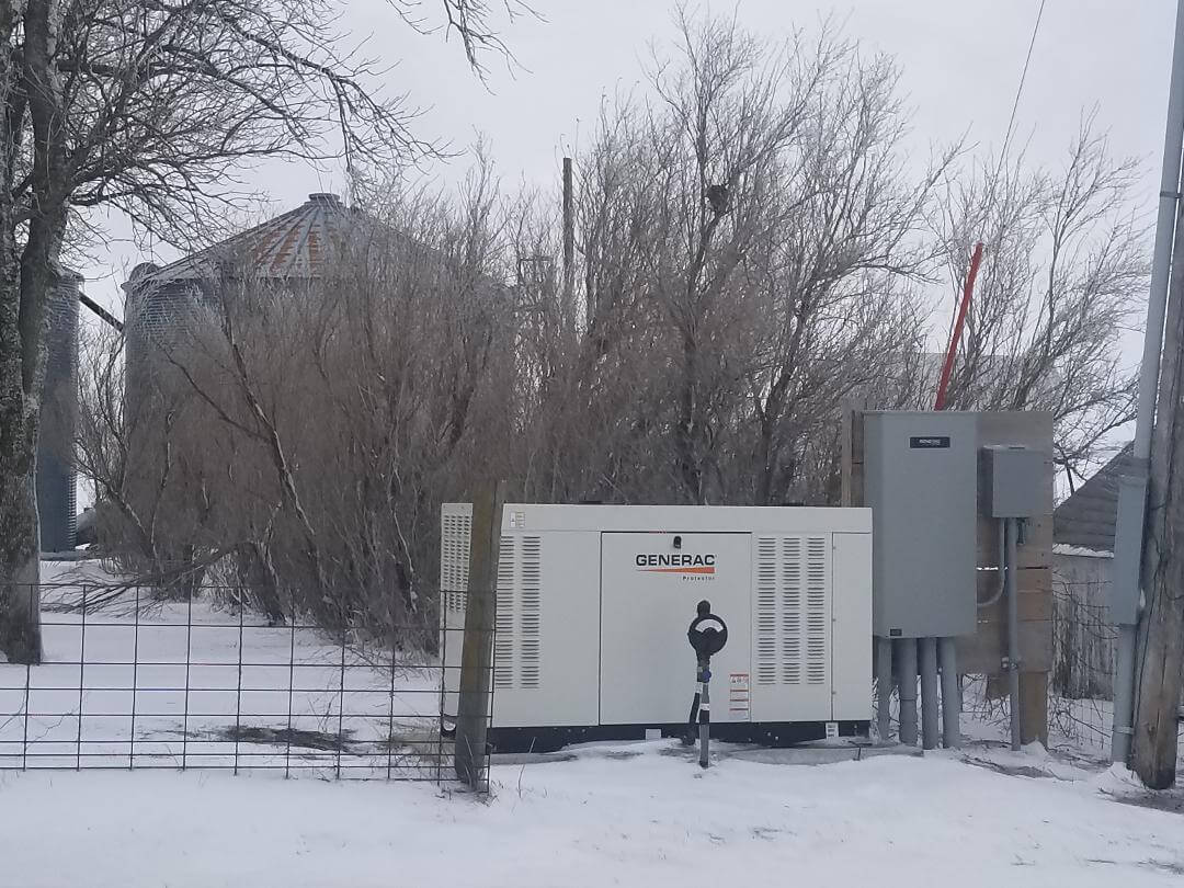 The generator was a lifesaver during the April 14 blizzard.
