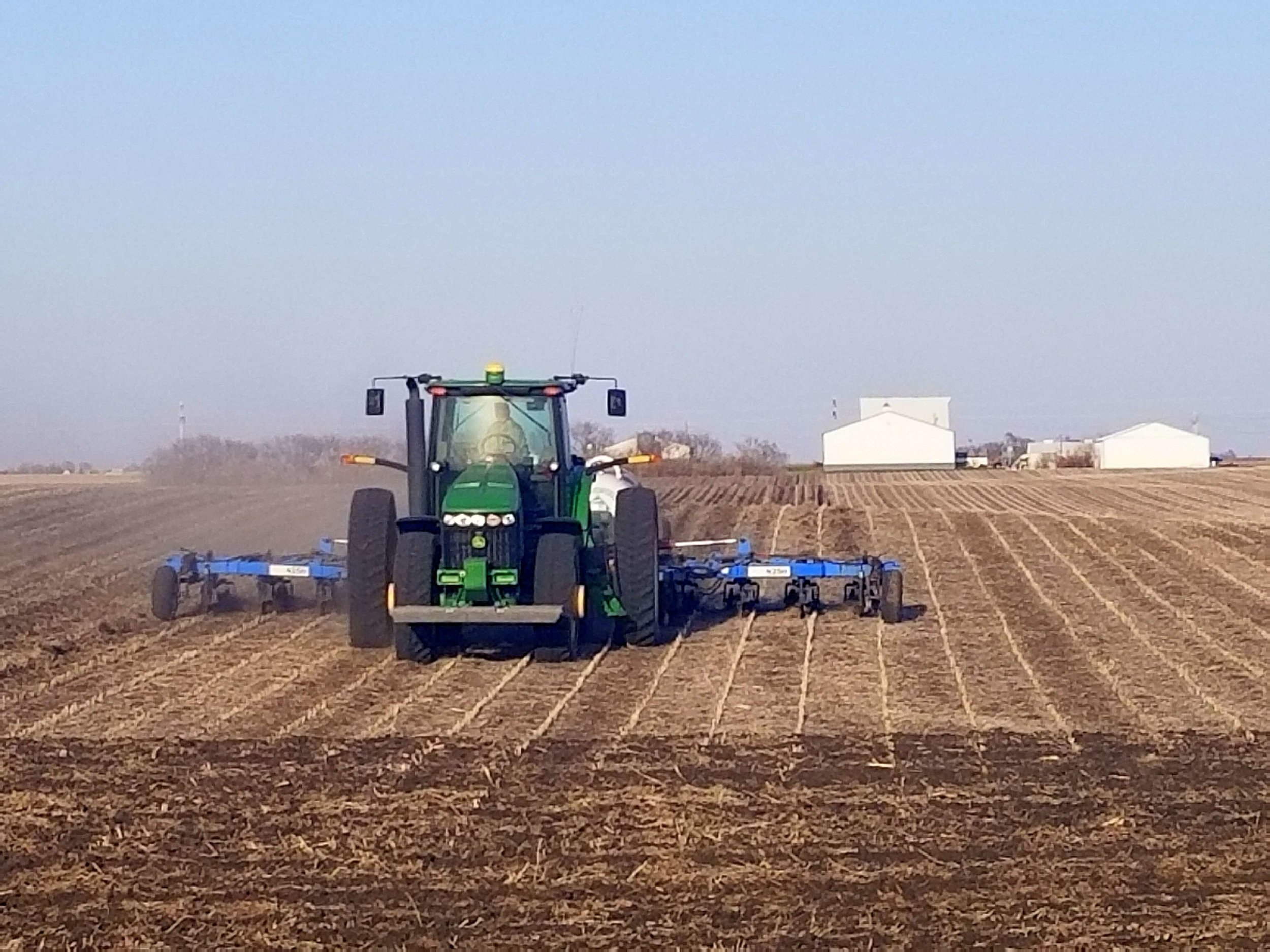 Darcy and her brother Jason are busy applying nitrogen fertilizer to help feed the 2018 crop.