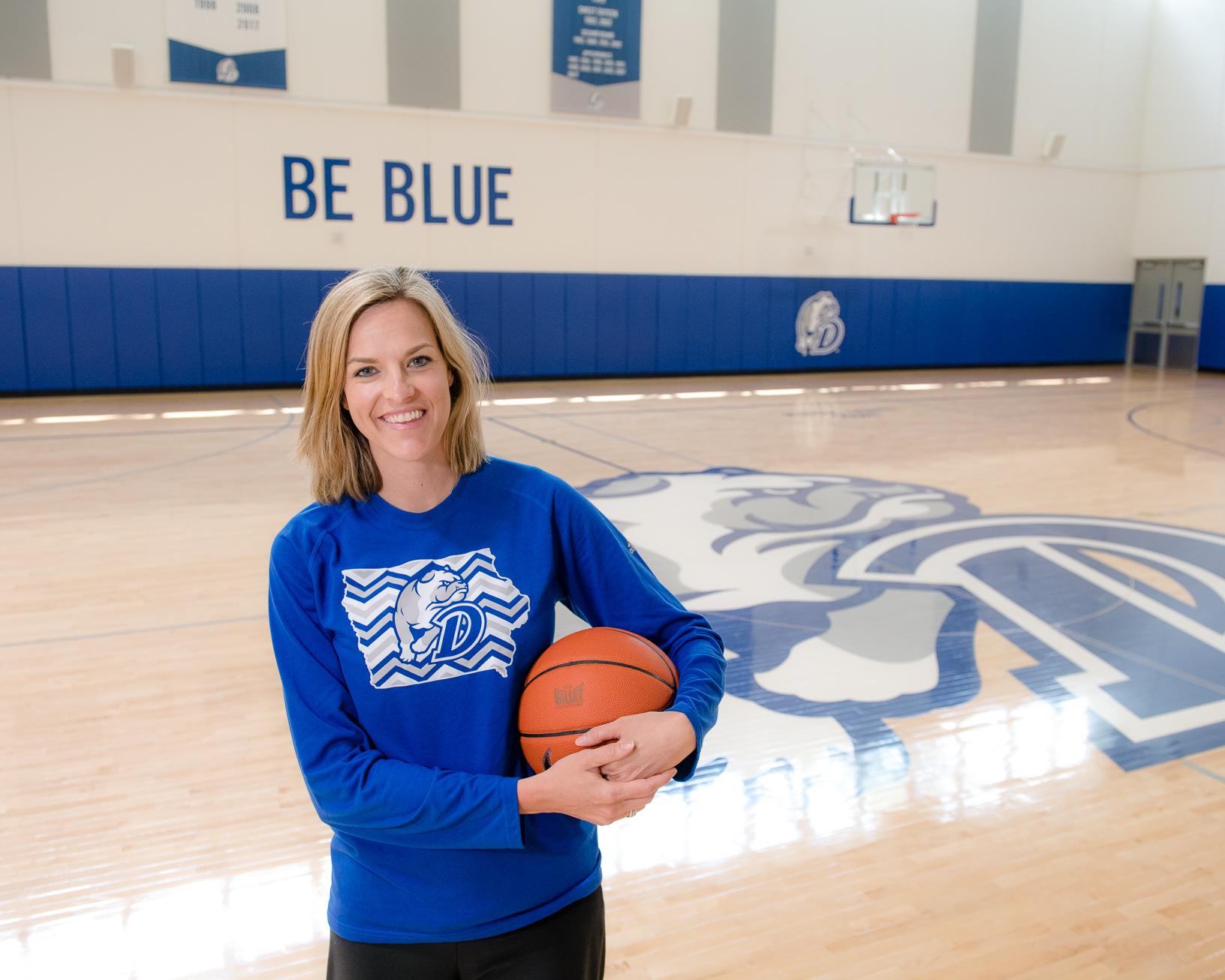 Jennie Baranczyk is the head coach of Drake University Women's Basketball. Photo credit: Joseph L. Murphy/Iowa Soybean Association