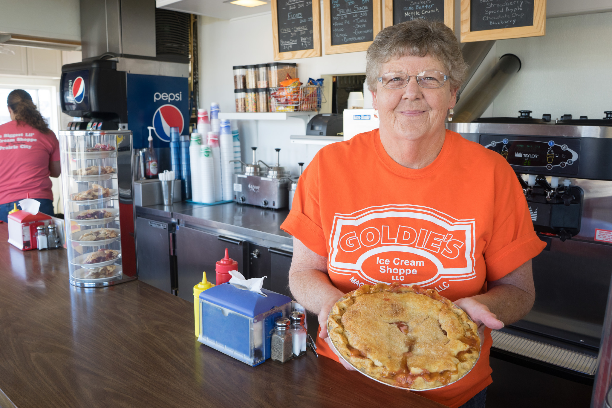 Goldie's Ice Cream Shoppe in Prairie City is home to delicious ice cream, sandwiches and pies. Photo credit: Joseph L. Murphy/Iowa Soybean Association