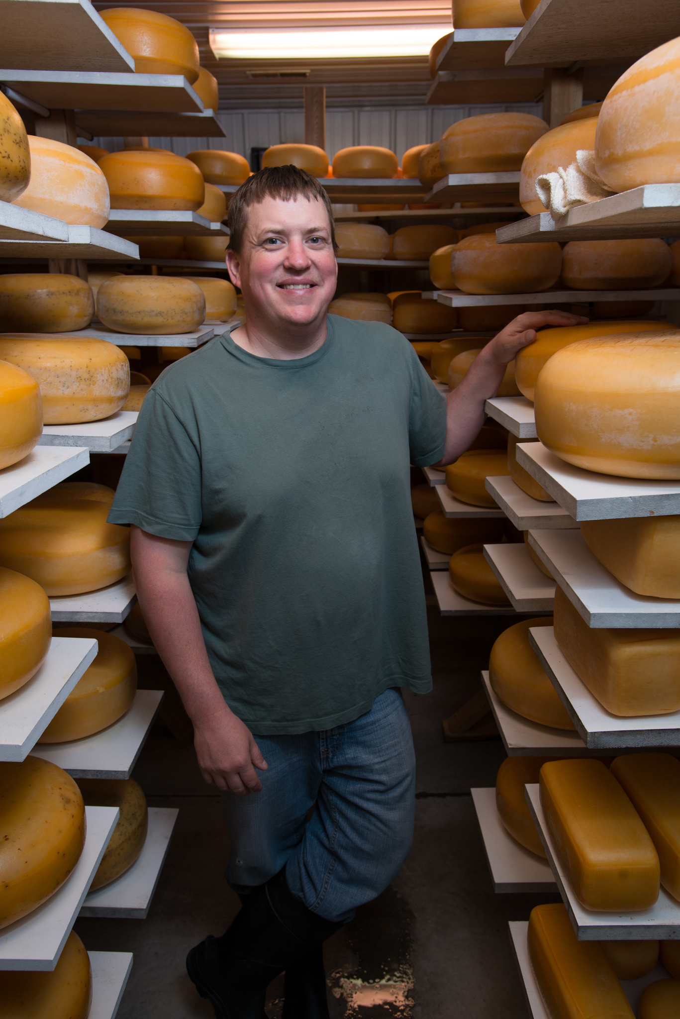 Frisian Farms Cheese House is famous for their Gouda cheese. Photo credit: Joseph L. Murphy/Iowa Soybean Association