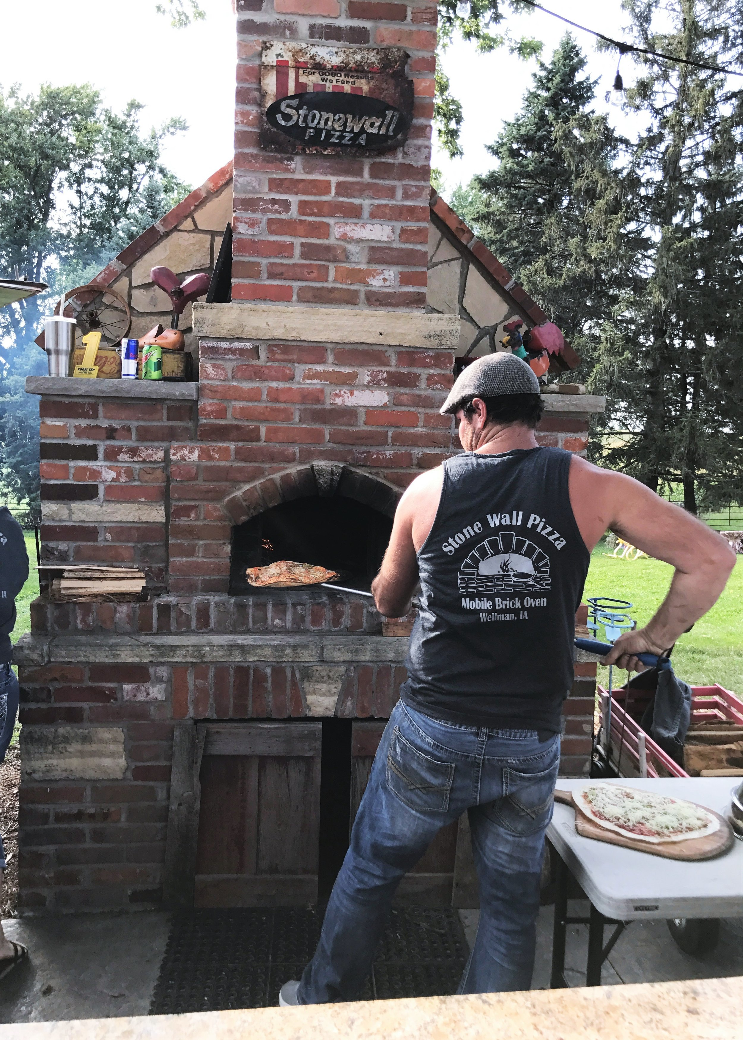 Stone Wall Pizza serves up homemade brick-oven pizza. Photo credit: Anita McVey