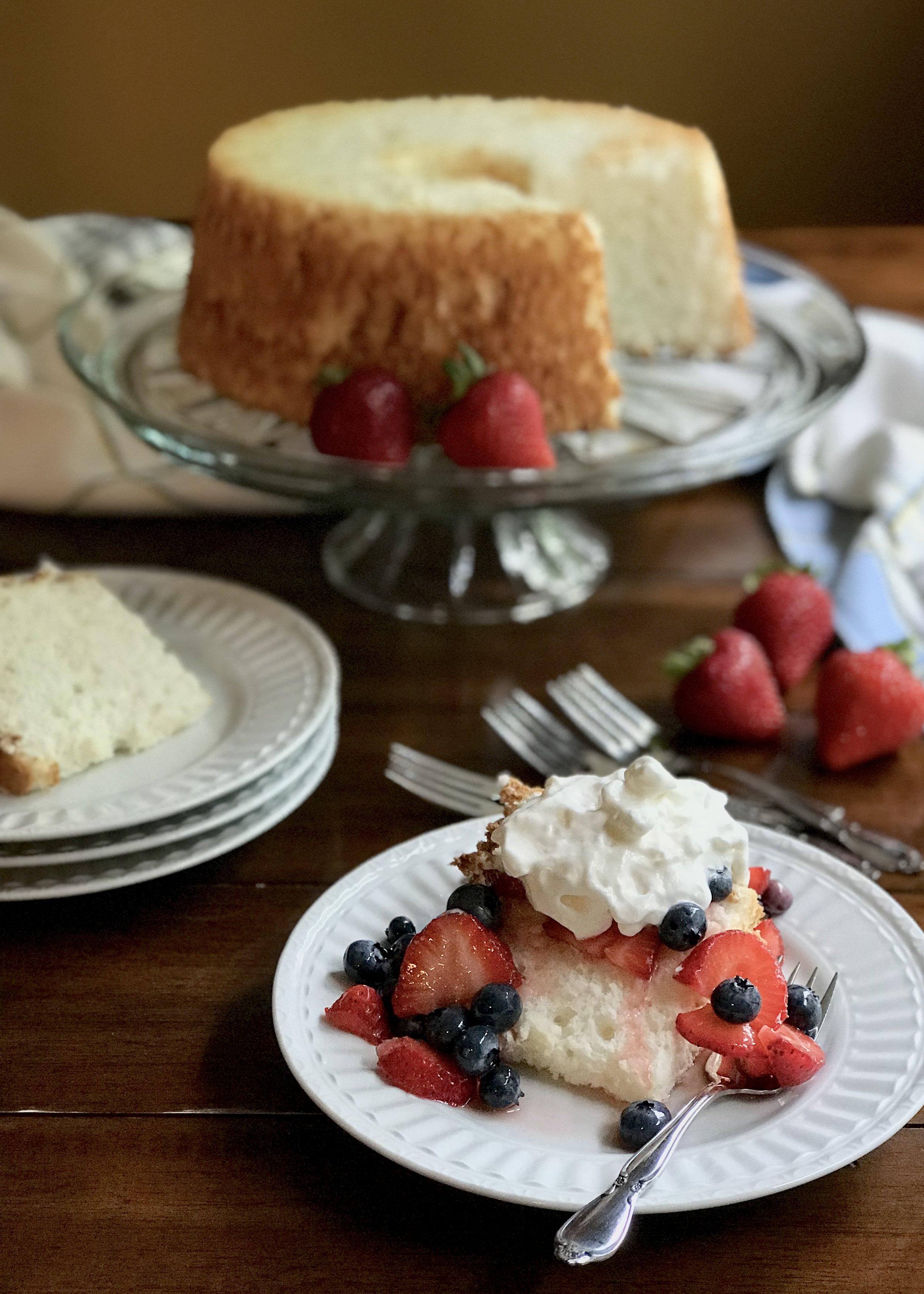 Heavenly Angel Food Cake recipe. Photo credit: Anita McVey