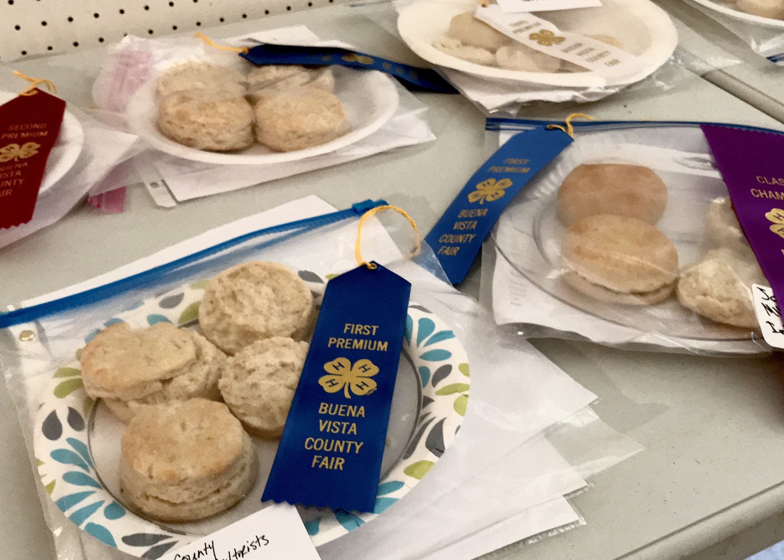 Gold Medal Classic Biscuits at the Buena Vista County 4-H Recipe Challenge. Photo credit: Anita McVey
