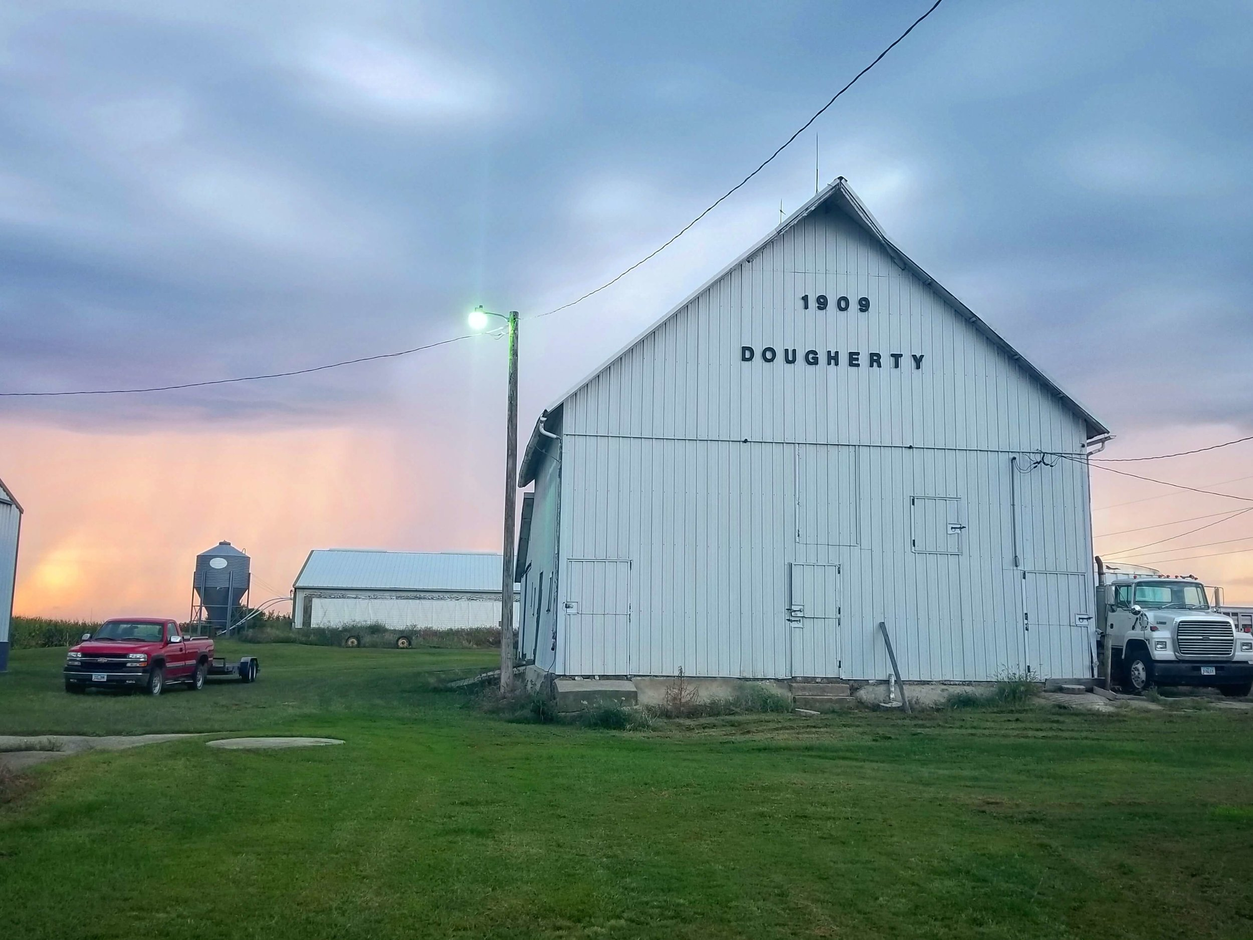 Summertime sunsets at the Dougherty Century Farm. Photo credit: Darcy Maulsby