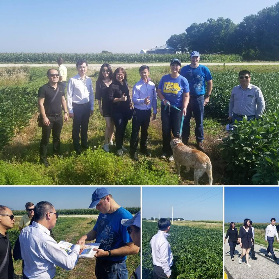 Grain buyers from Vietnam and Thailand visited Iowa to meet the farmers that grow the soybeans they use in livestock feed. Photo credit: Darcy Maulsby