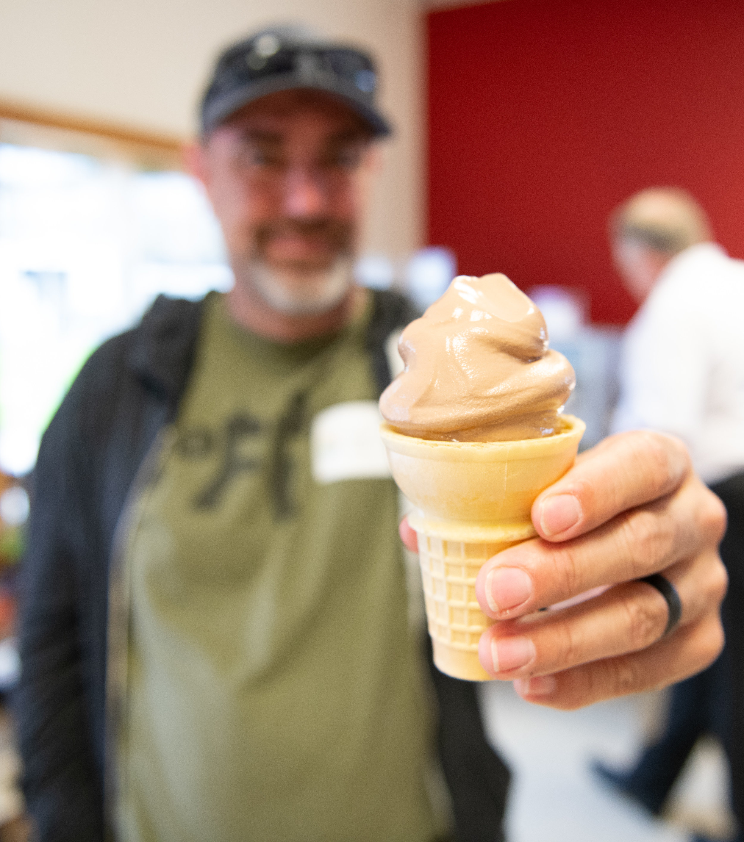 In 2013, Country View Dairy began making Premium Frozen Yogurt Soft Serve Mix. Their line of soft-serve frozen yogurt is available in several restaurants, colleges and schools. Photo credit: Joseph L. Murphy/Iowa Soybean Association