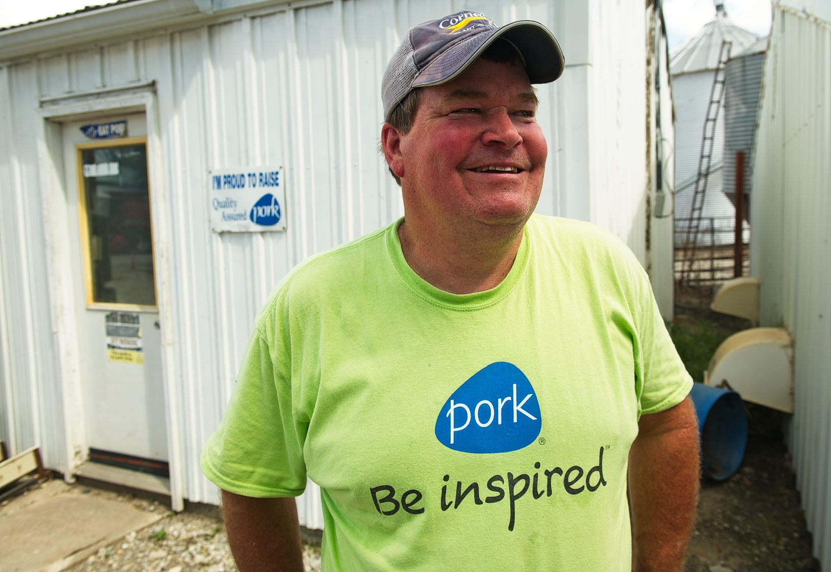 Dave Struthers, a pig, soybean and corn farmer in Collins, helped bring to light the continuous and sustainable cycle of raising pigs and growing crops for livestock feed. Photo credit: Joseph L. Murphy/Iowa Soybean Association
