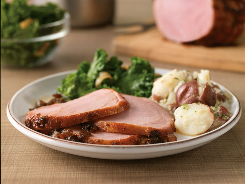 Honey Balsamic Glazed Ham is a perfect holiday recipe. Photo credit: The National Pork Board