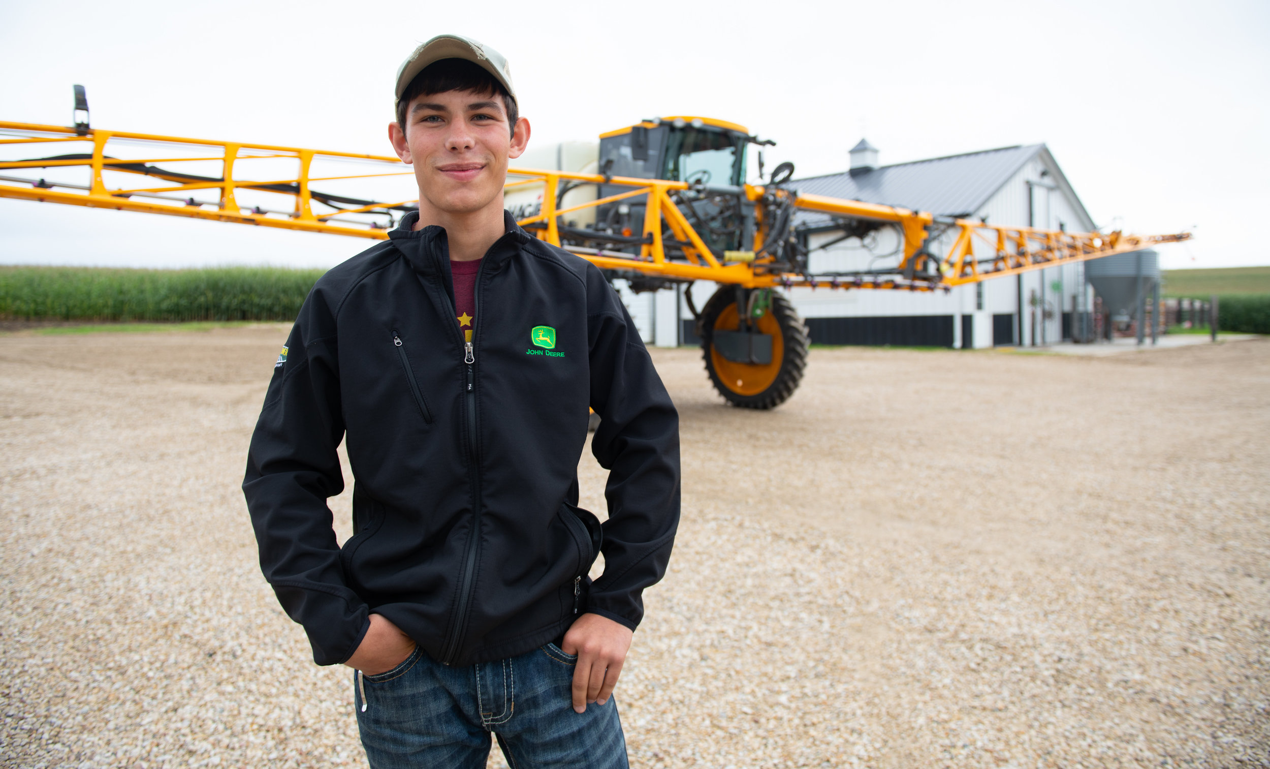 Andrey Shirbroun shared how he uses drones to scout soybean and corn fields. Photo credit: Joseph L. Murphy/Iowa Soybean Association