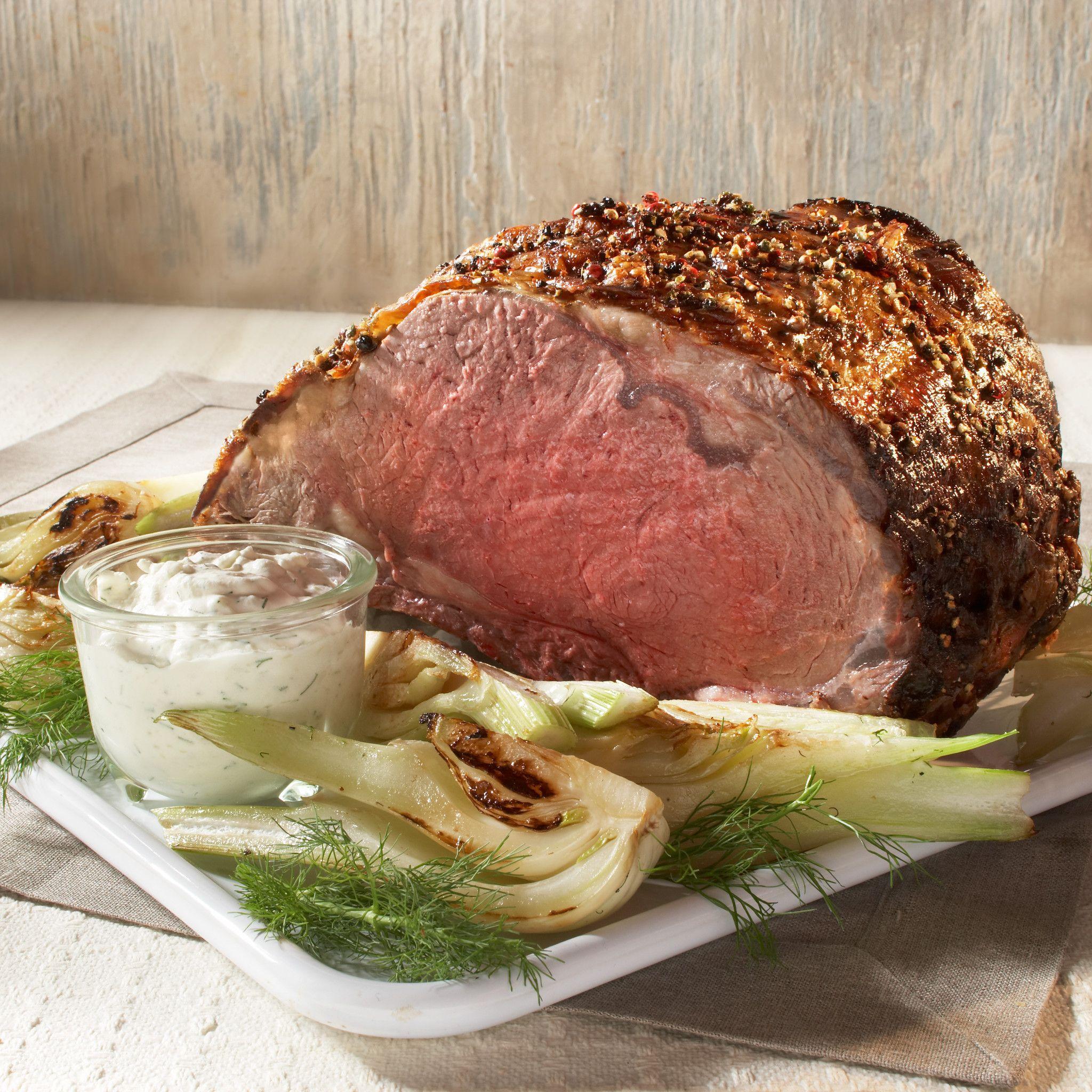 Prime rib with horseradish sauce. Photo credit: Iowa Beef Industry Council