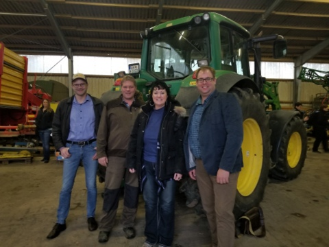 Darcy with farmers in Germany. Photo credit: Darcy Dougherty Maulsby