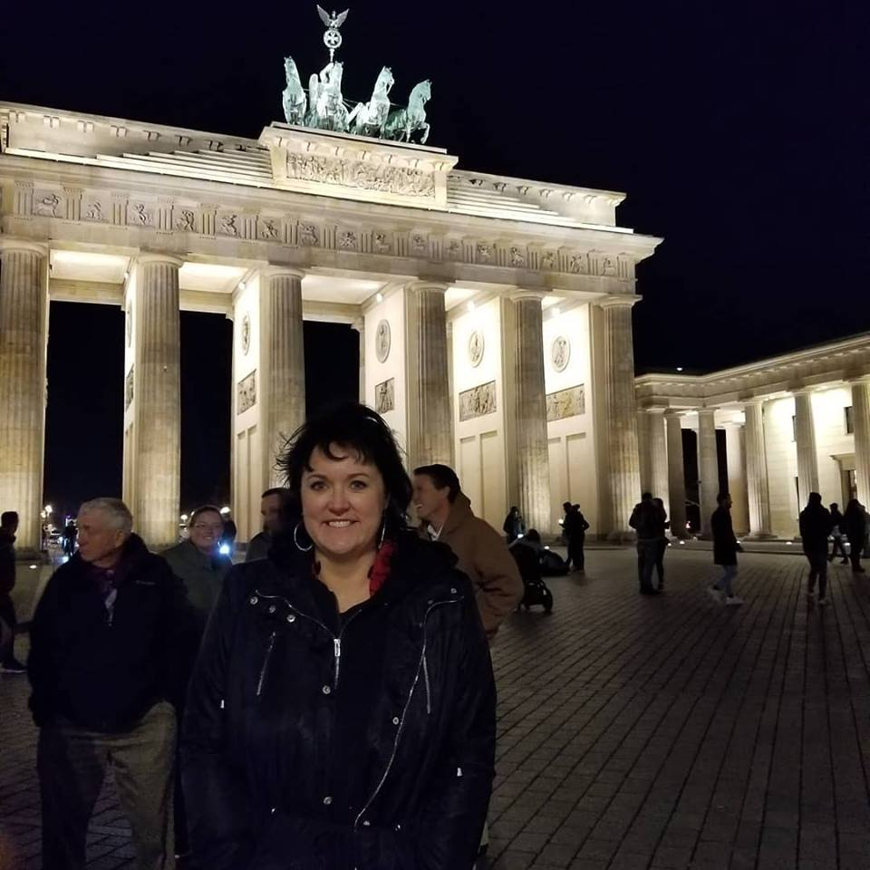 Darcy visits the Brandenburg Gate. Photo credit: Darcy Dougherty Maulsby