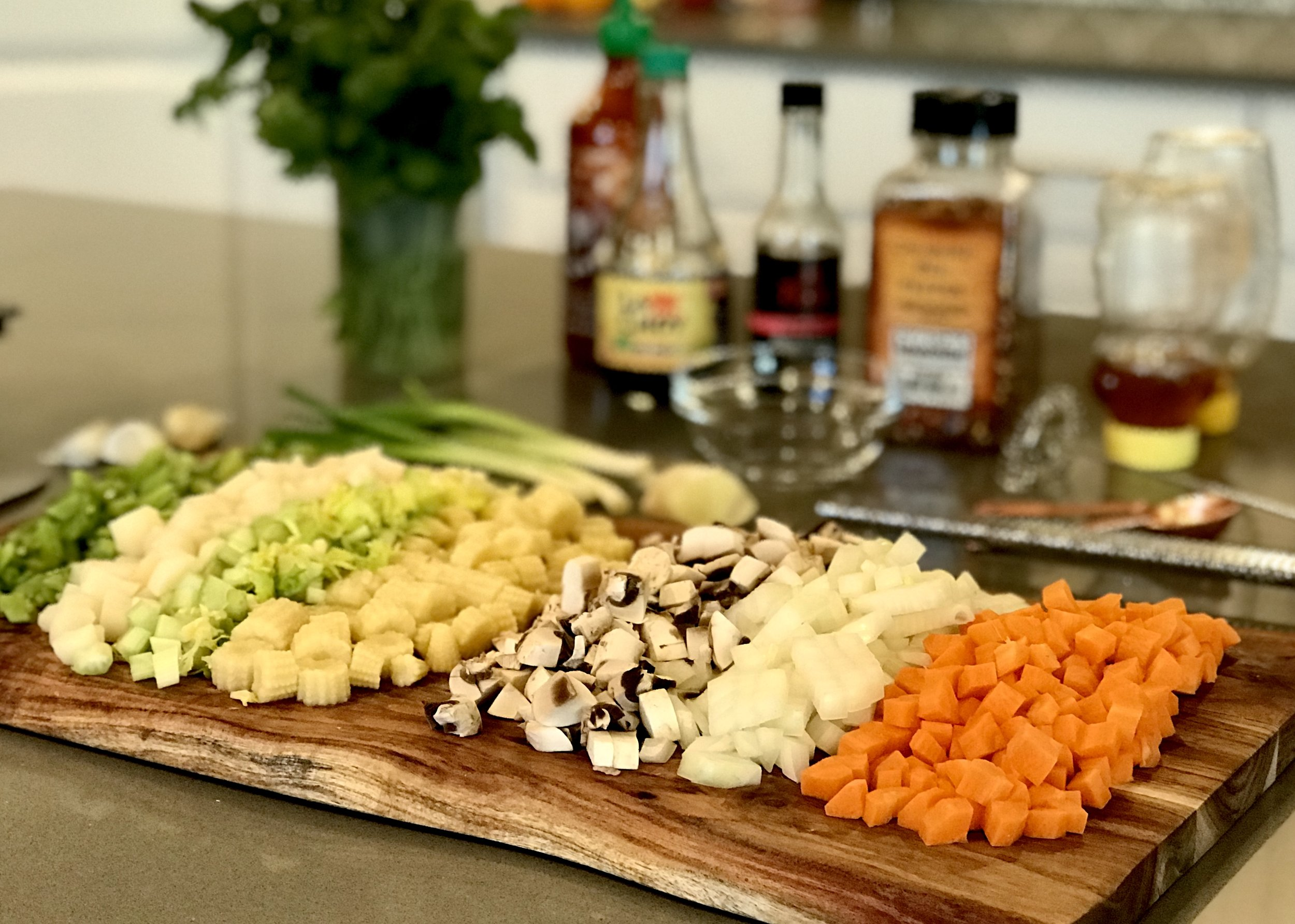It's important to cut vegetables into consistently small pieces. Photo credit: Anita McVey/Picnic Life Foodie