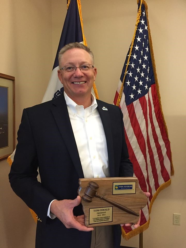 Tom is a past president of the Iowa Soybean Association. Photo credit: Tom Oswald