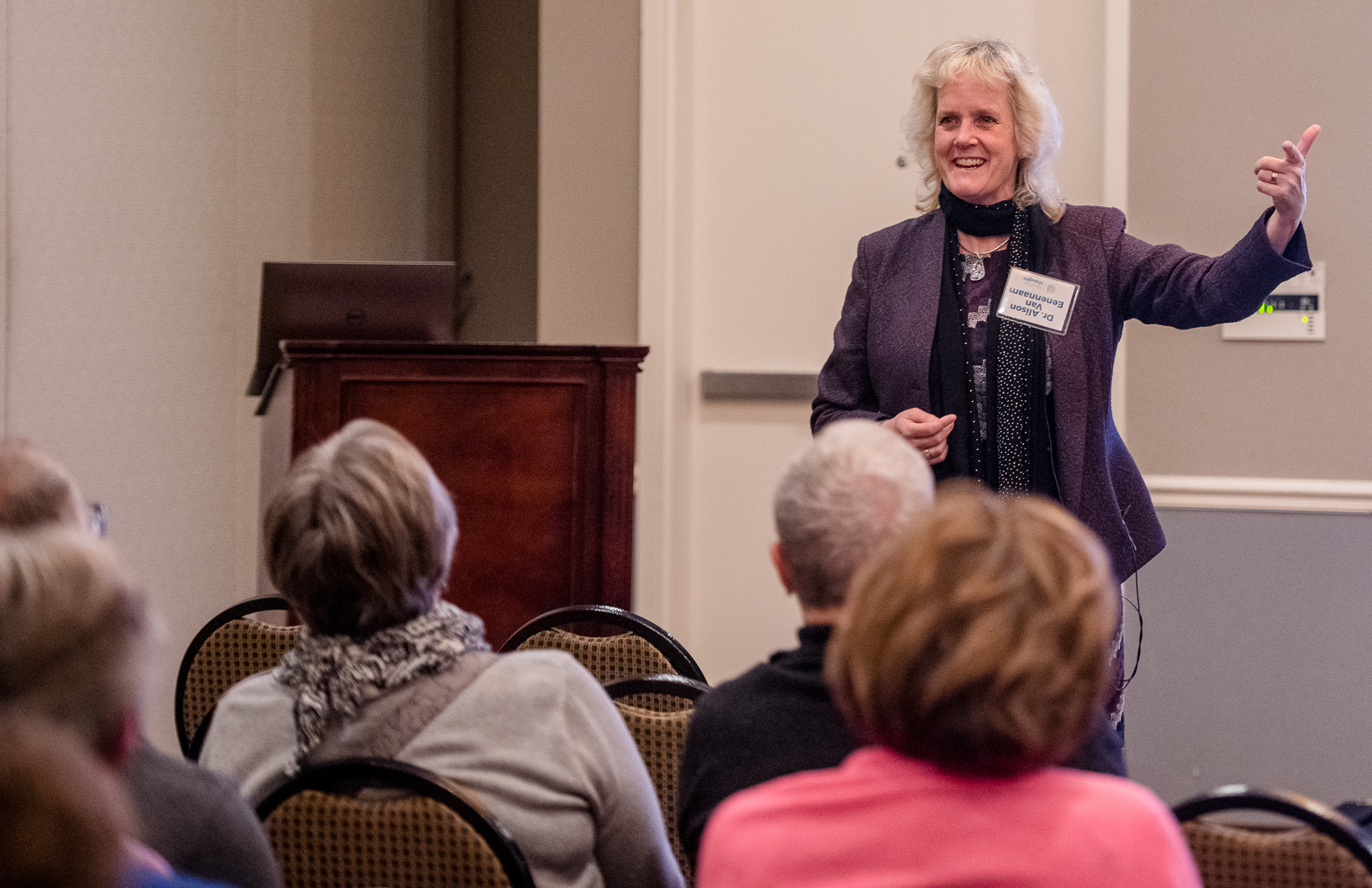 Alison Van Eenennaam, Ph.D., animal geneticist and extension specialist at University of California at Davis, addressed how misinformation in agriculture can impact sustainability and innovation. Photo credit: Joseph L. Murphy/Iowa Soybean Association