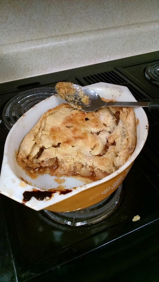 """Mom always made sure our bodies were fueled. After making pies for the freezer, she'd use the scraps to make what she called """"scrap pie."""" Photo credit: Tom Oswald"""