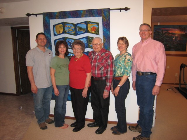 My brother Jim, sister Julie, Mom, Dad, sister Breta and me in 2012. Photo credit: Tom Oswald