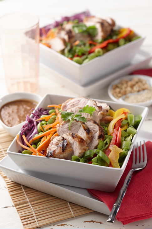 Grilled Turkey Chopped Thai Salad