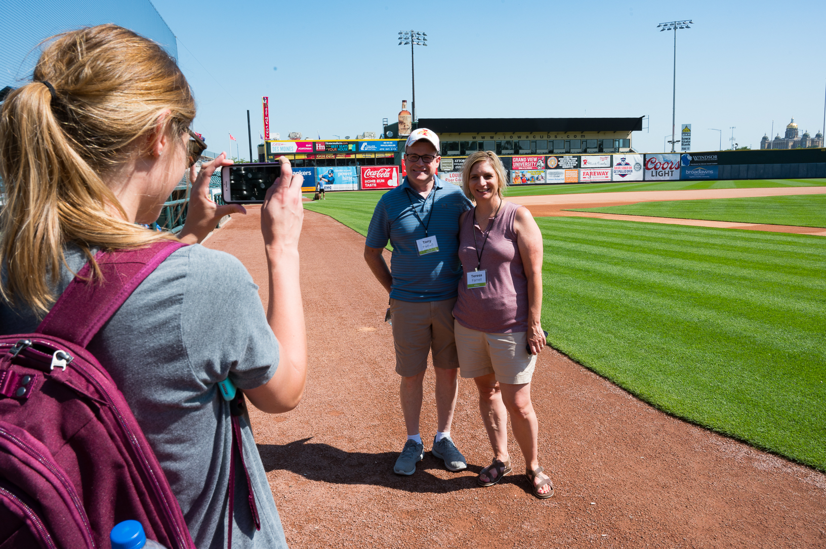 After learning about the Principal Park food system, participants toured the stadium with John Rodgers. Photo credit: Joseph L. Murphy/Iowa Soybean Association