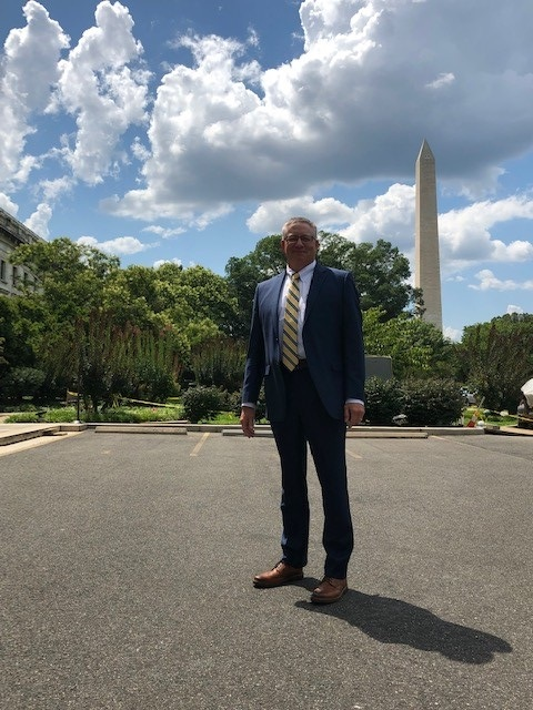 Outside the USDA building after meetings with former Iowa Secretary of Agriculture Bill Northey. Photo credit: Tom Oswald.