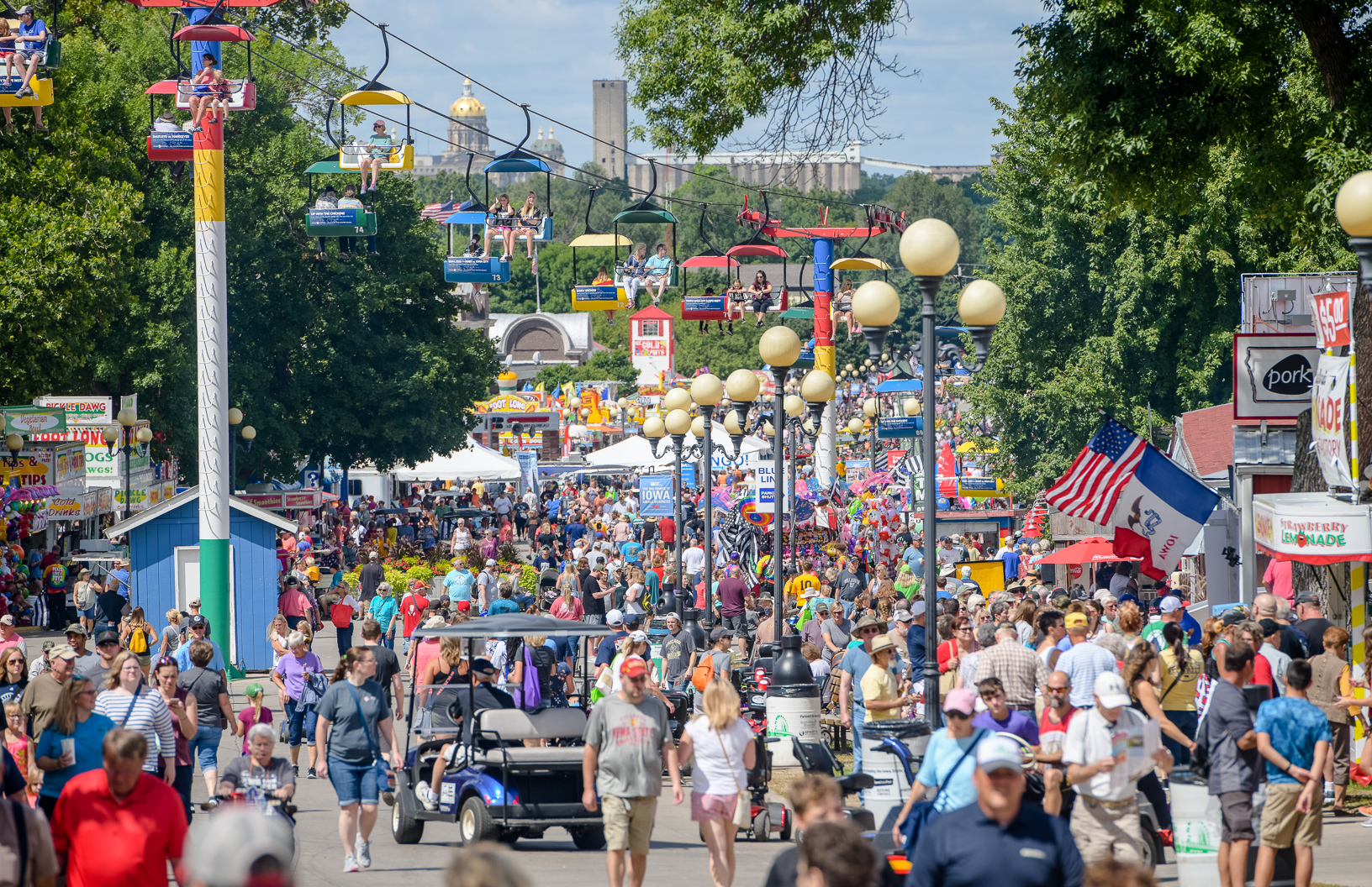 The Iowa State Fair attendance set a record of 1.17 million people. Photo credit: Joseph L. Murphy/Iowa Soybean Association