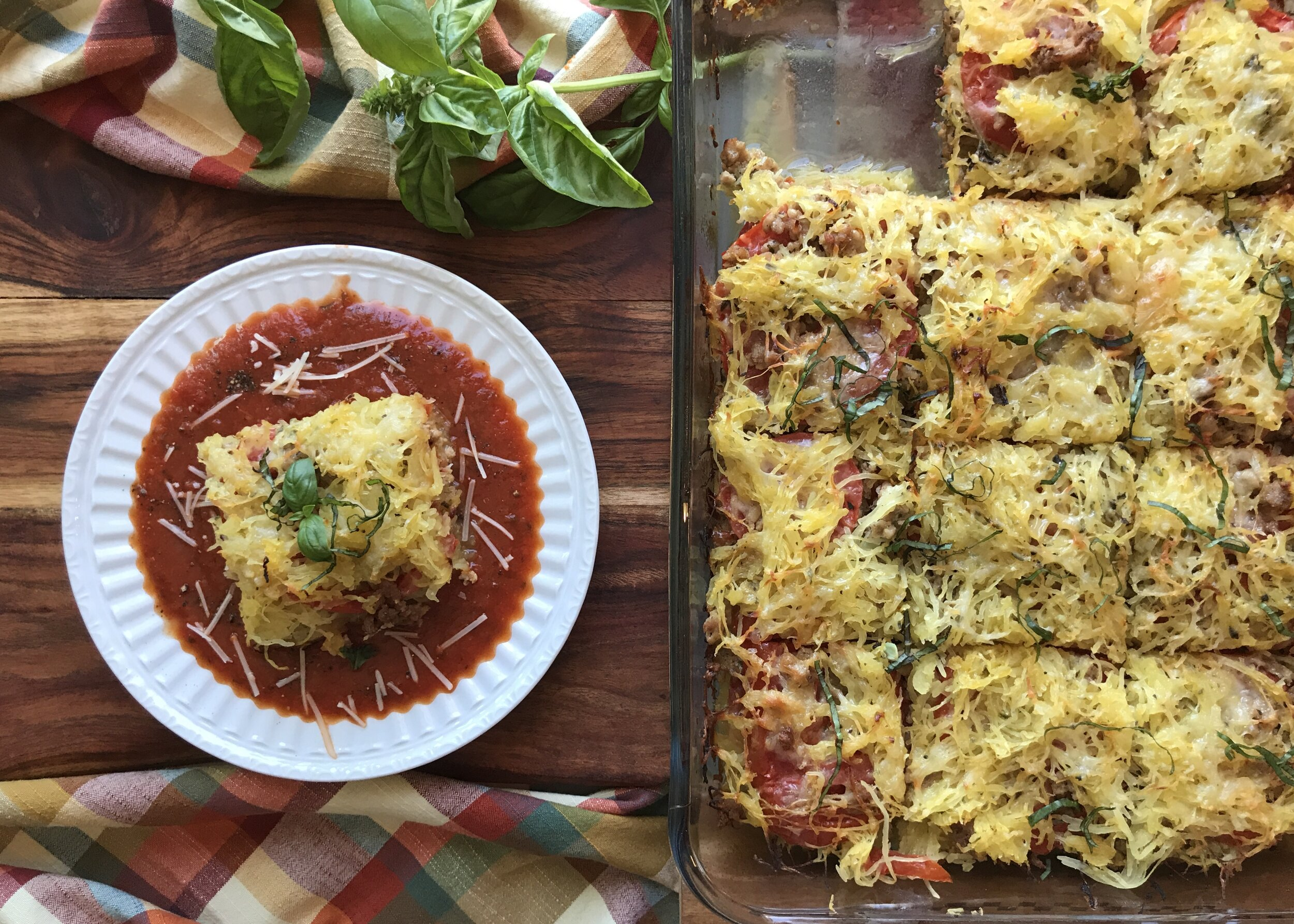 Spaghetti squash lasagna recipe. Photo credit: Anita McVey/Picnic Life Foodie