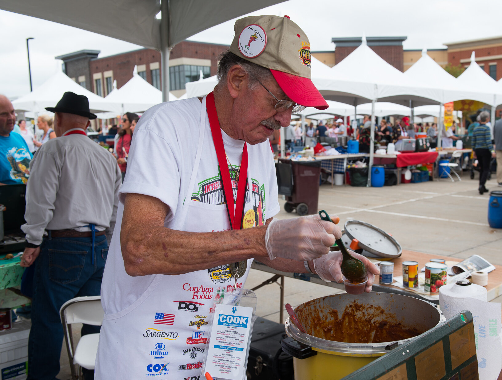 Contestants compete during the World Champion Chili Cook-off in Ankeny. Photo credit: Joseph L. Murphy/Iowa Soybean Association