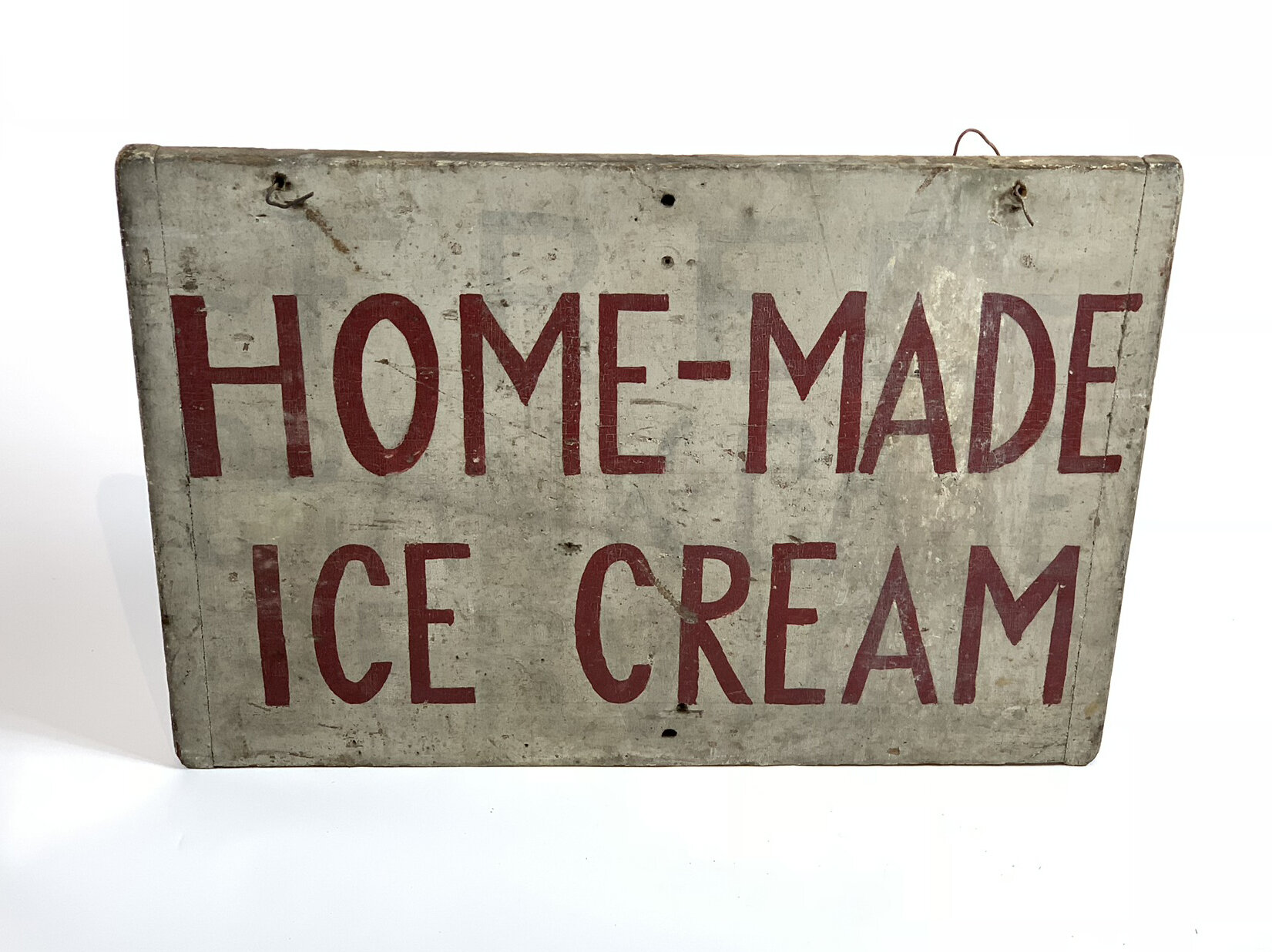 Vintage Double Sided Ice Cream Sign