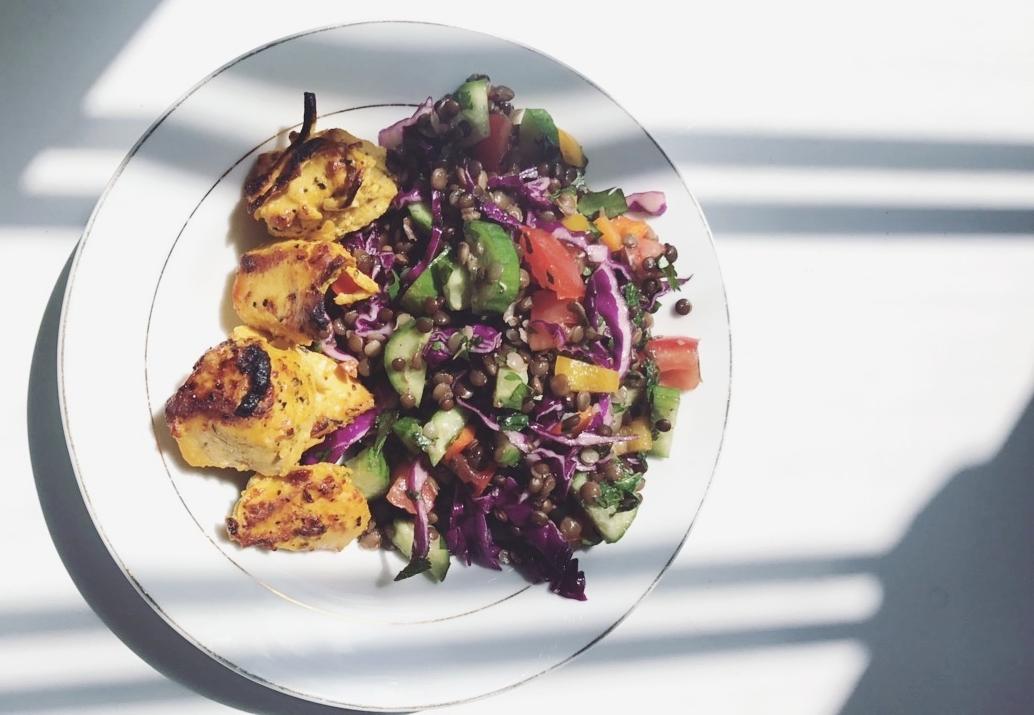 Saffron Chicken with lentil salad.jpg