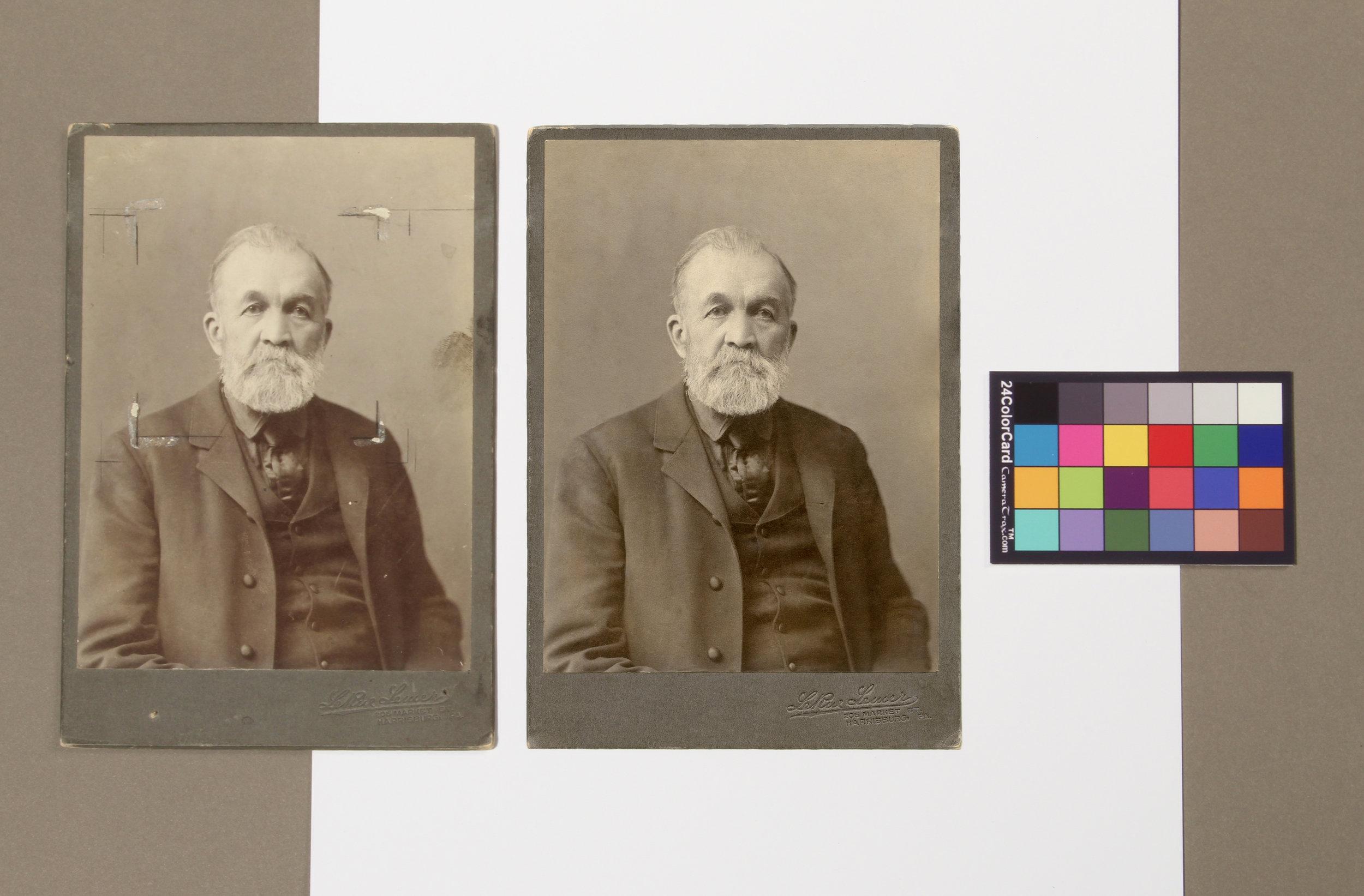 An example of American Civil War photograph digital restoration