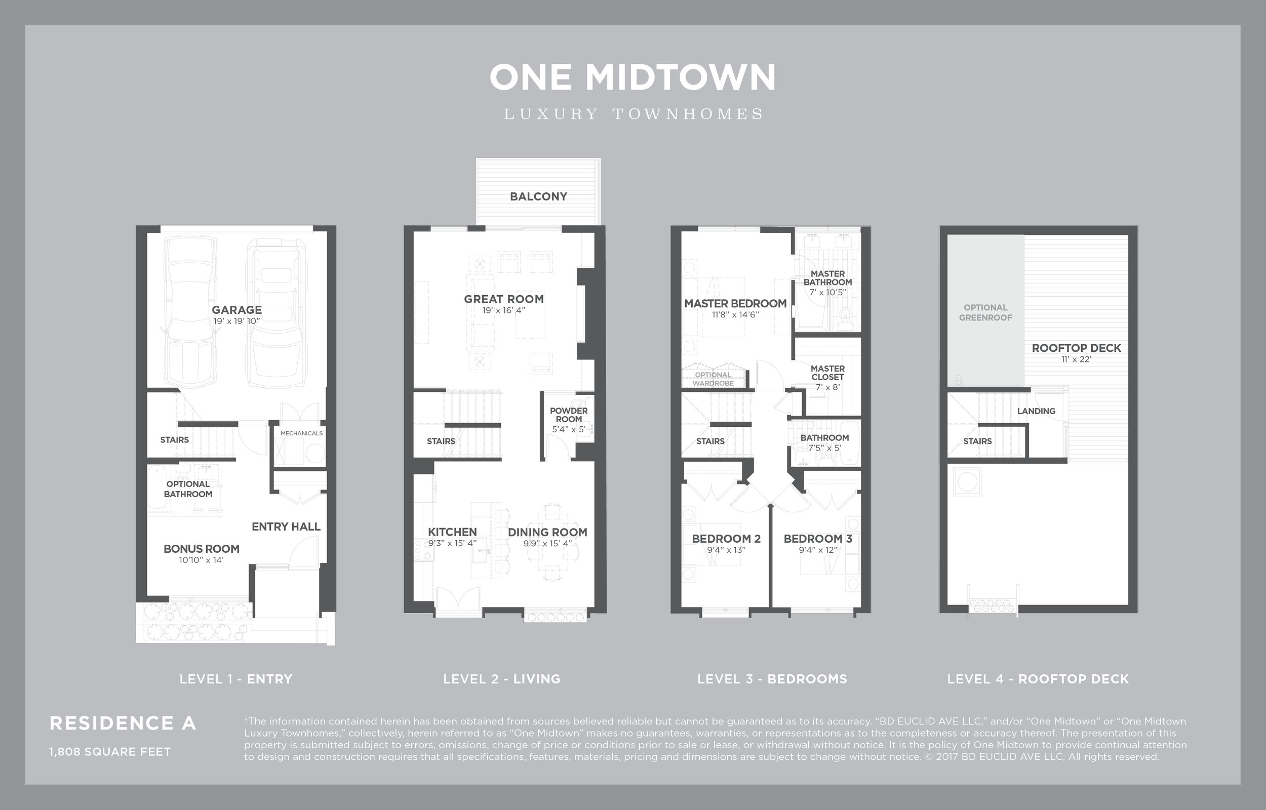ONE MIDTOWN - Residence A, 1,808 sf