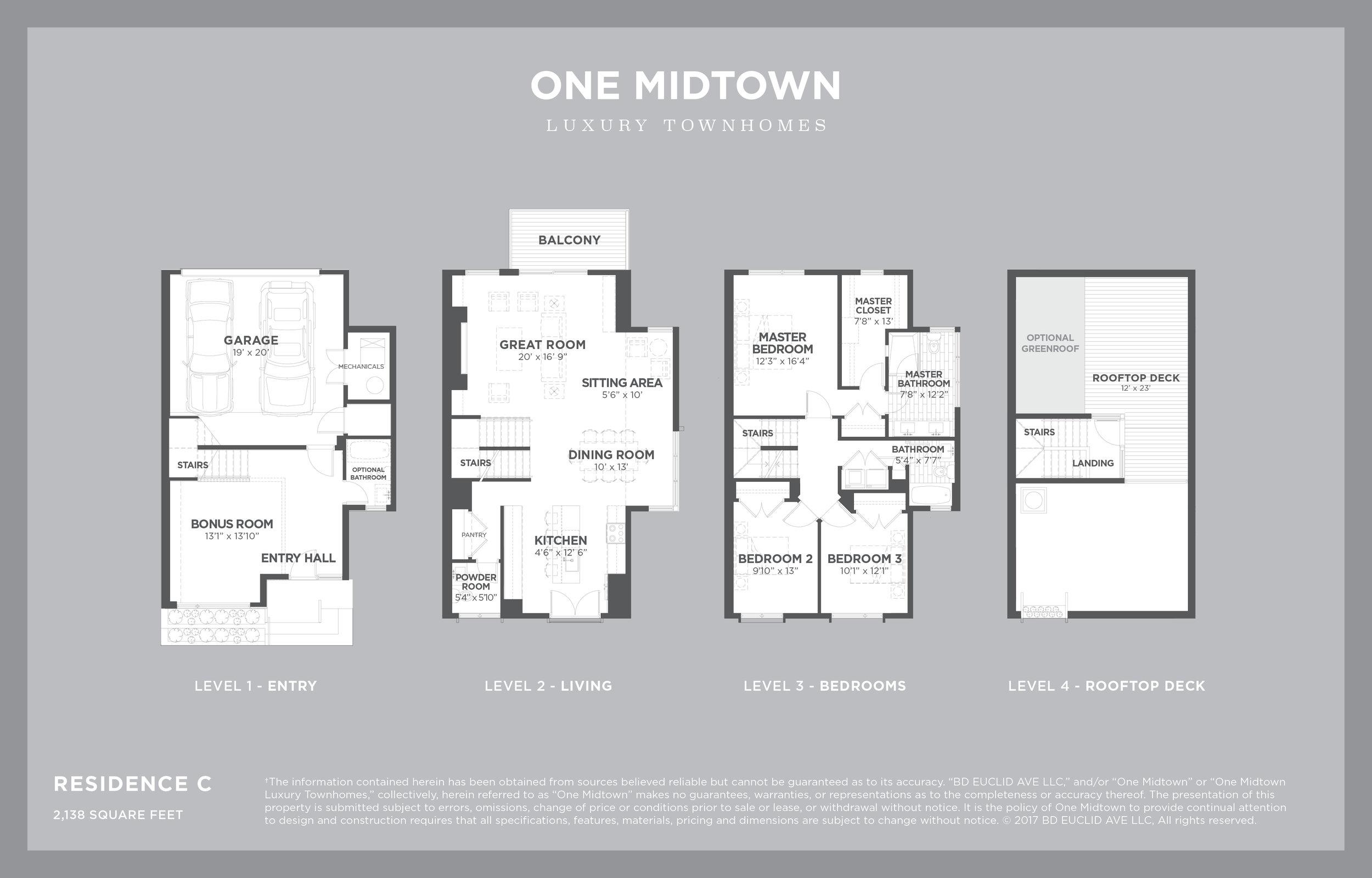 ONE MIDTOWN - Residence C, 2,238 sf