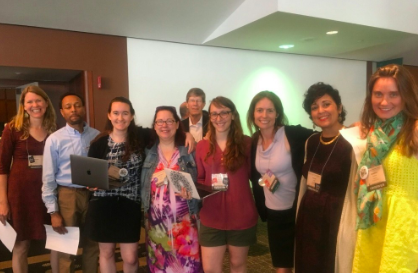 Human rights defenders testify in favor of resolutions affirming Palestinian rights at the Presbyterian USA General Assembly in St. Louis, June 2018.