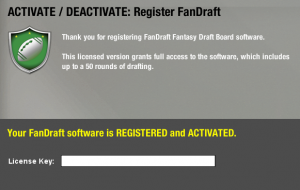How to Register your FanDraft License key