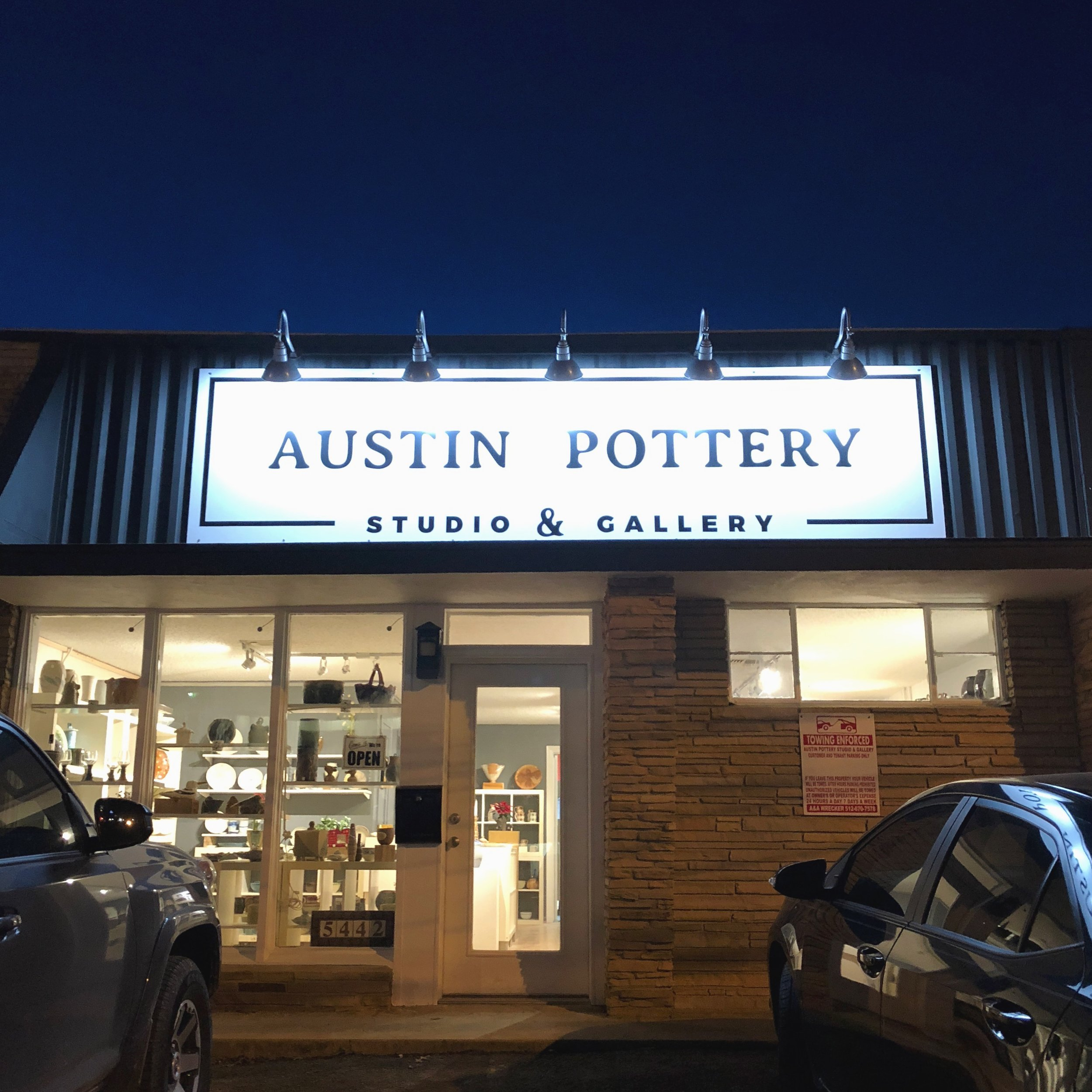 Austin-Pottery-New-Sign-Lights-Gallery