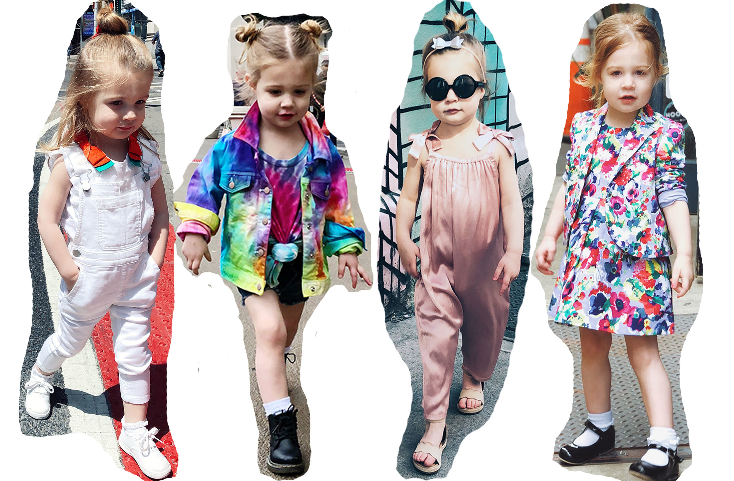 Overalls,  Crewcuts  | Top,  Janie and Jack  | Jacket: DIY | Jumpsuit,  Something Navy  |Dress & Blazer,  Janie and Jack