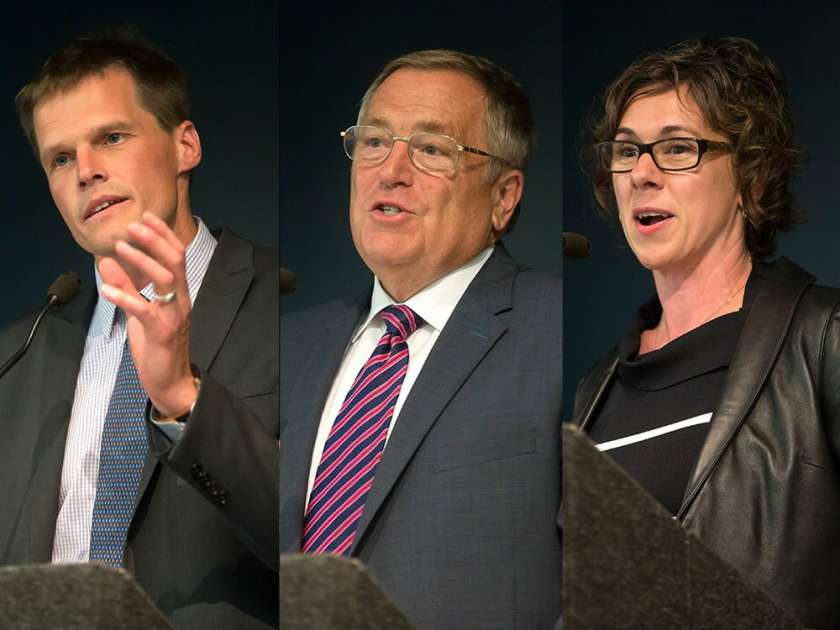 Mayoral candidates Charlie Clark, Don Atchison, Kelley Moore