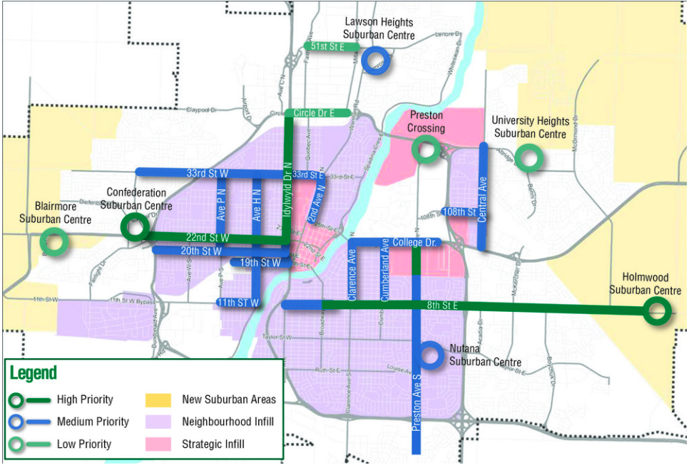 Strategic and neighbourhood infill areas as outlined in the Growth Plan