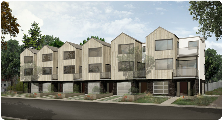 Phase 1 of Element Urban Village. Located at the corner of Avenue F and 17th St. West.