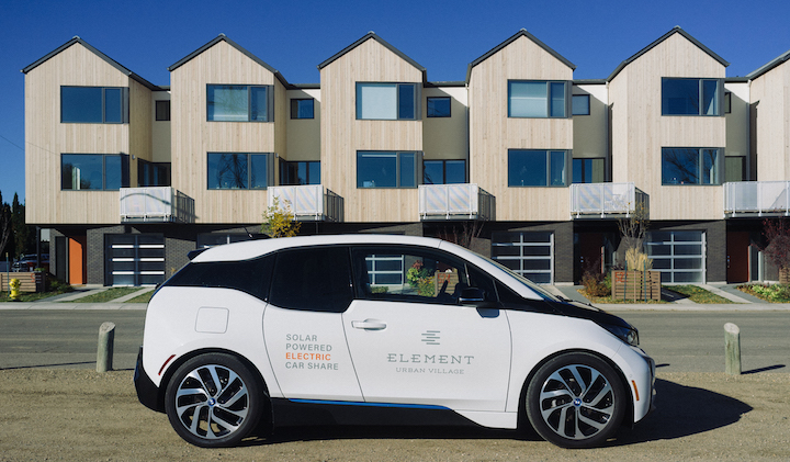 Phase 2 offers a solar-powered electric car share.