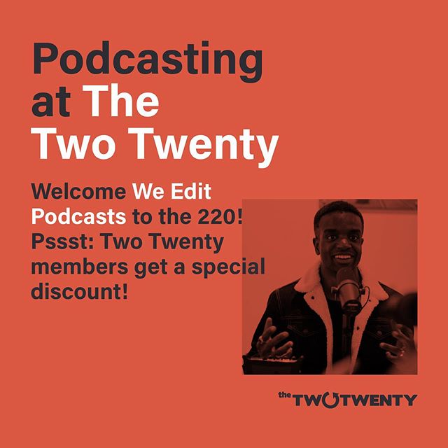 We're celebrating #coworkingday @220yxe with this special announcement! Thrilled to have @weeditpodcasts offer a fantastic opportunity to our community! #podcasting #coworking