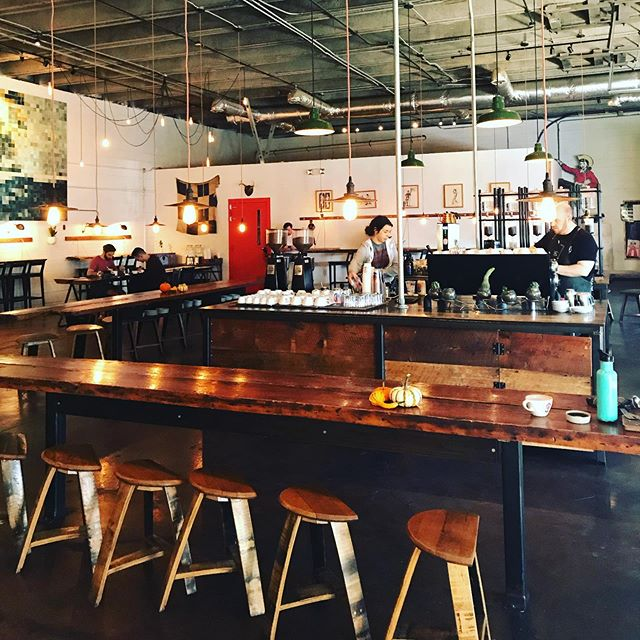It's no lie. We love seeing imaginative uses of big industrial spaces...and great coffee. @baristaparlor #nashville