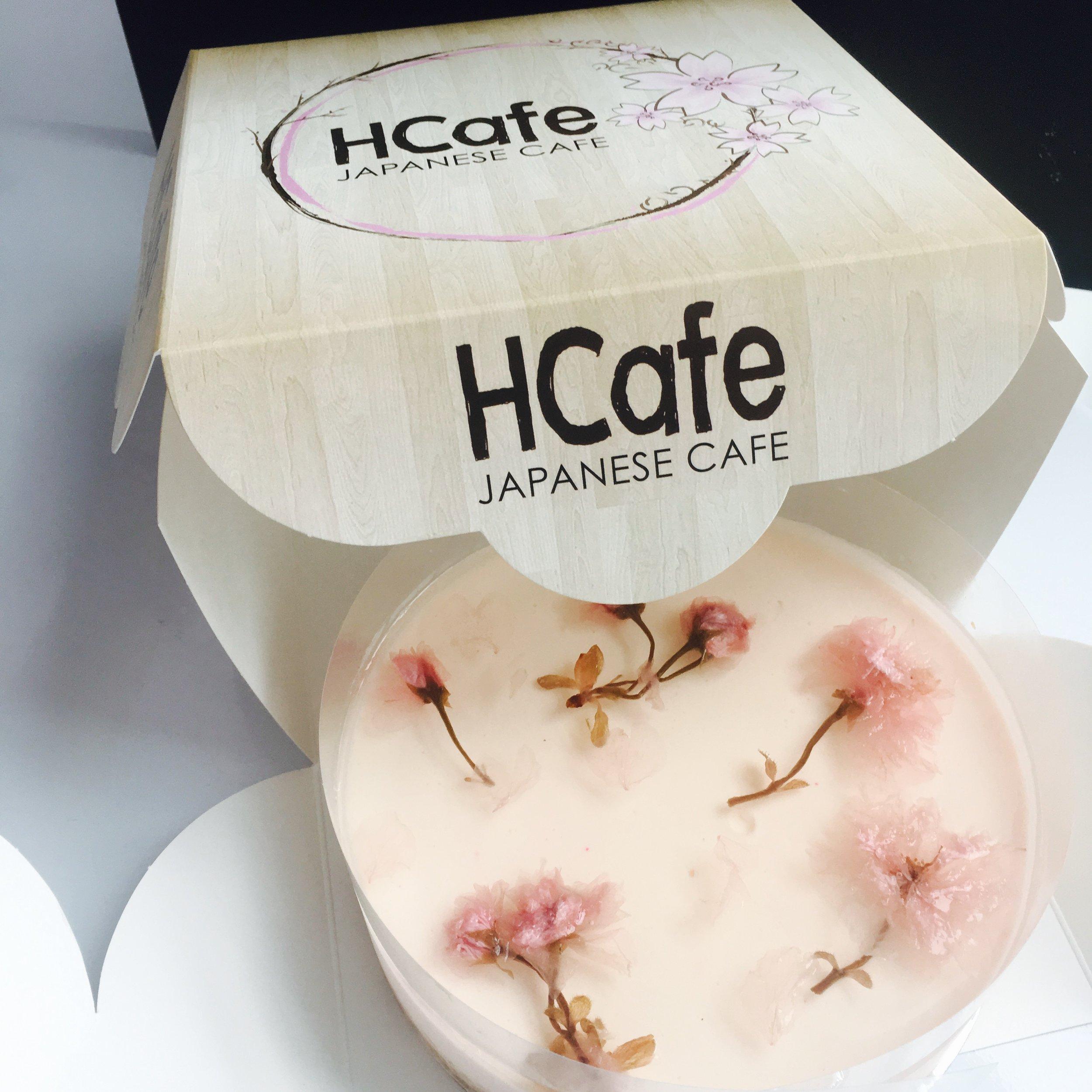 Sakura Non-Bake cheesecake