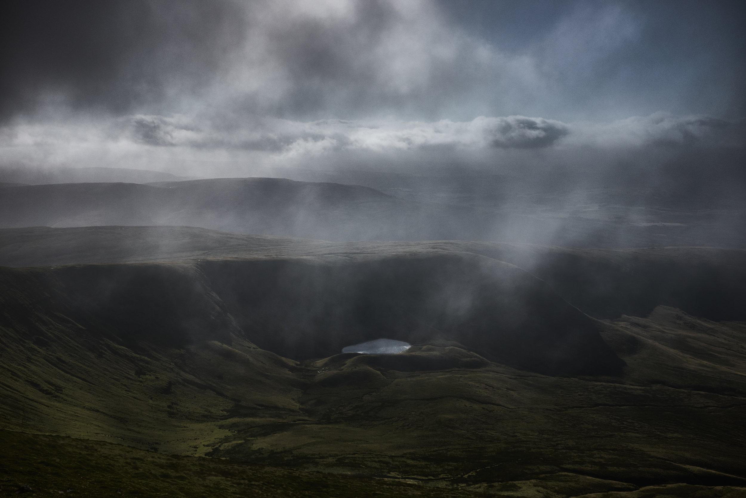 From Pen y Fan as a storm passes. Fujifilm X100T